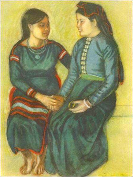 Вань Бинь водяные краски на клею 1956 год