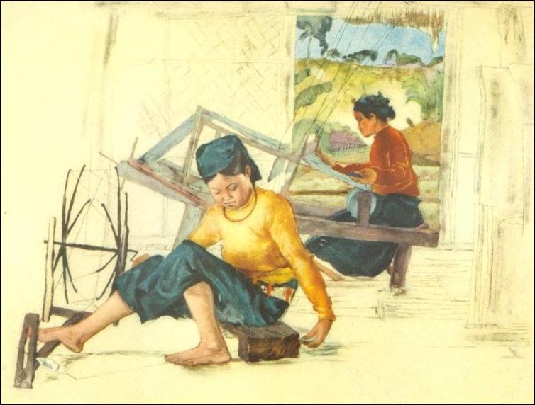 Нгуен Дык Нун лаковая живопись